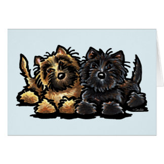 Two Cairn Terriers Card