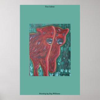 Two Calves Print