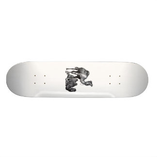 Two camels One standing One lying down drawing 18.1 Cm Old School Skateboard Deck