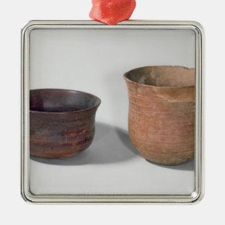 Two campaniform vases christmas ornament