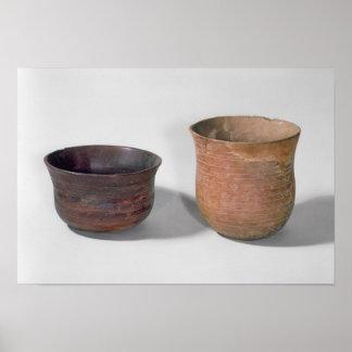 Two campaniform vases poster