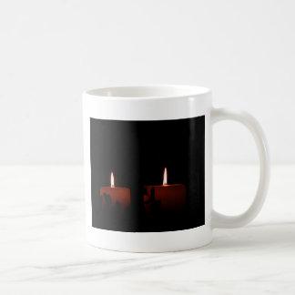 Two Candles Basic White Mug