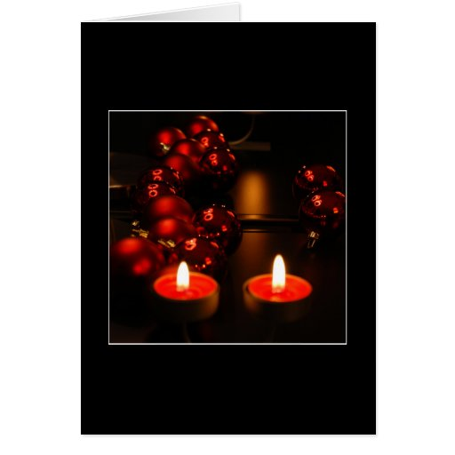 TWO CANDLES Card Greeting Card