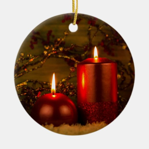Two candles Christmas decoration Ornaments