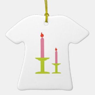 Two Candles Ceramic T-Shirt Decoration