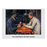 Two Card Players By Paul Cezanne Print