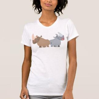 Two Cartoon Rhinos Women T-Shirt