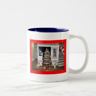 Two cat Christmas Coffee Mugs