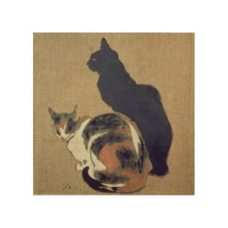 Two Cats, 1894 Wood Print