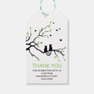 Two Cats In A Tree Black Love Personalized Favor Gift Tags