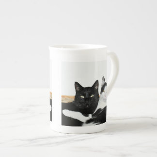 Two Cats in Love Bone China Tea Cup