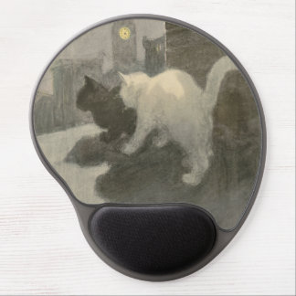 Two Cats On The Roof gel mouse pad