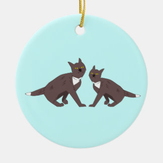 Two Cats Ornament