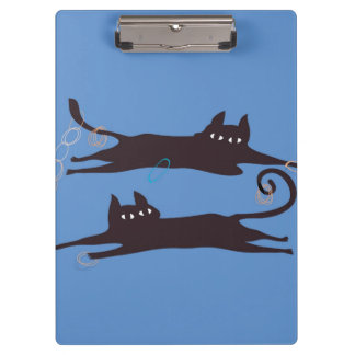 Two Cats Playing Clipboard