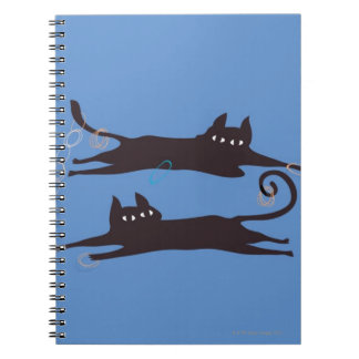 Two Cats Playing Notebook
