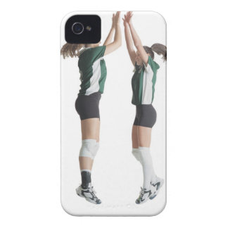 two caucasian female volleyball players from the iPhone 4 cases