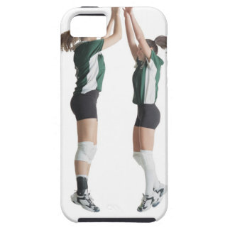 two caucasian female volleyball players from the iPhone 5 cases