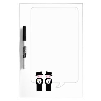Two caucasian grooms Dry-Erase whiteboards