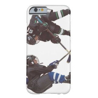 two caucasian hockey players wearing opposing barely there iPhone 6 case