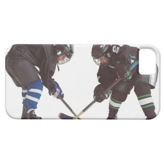 two caucasian hockey players wearing opposing iPhone 5 cover