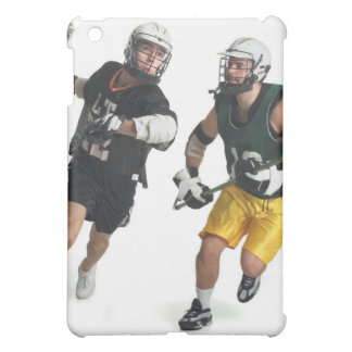 two caucasian male lacrosse players from iPad mini cover