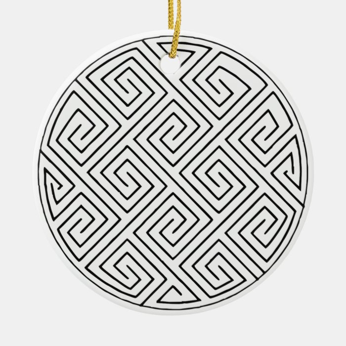Two Celtic key patterns Ornament