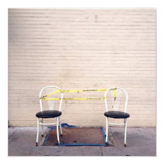 Two Chairs 13 Cm X 13 Cm Square Invitation Card