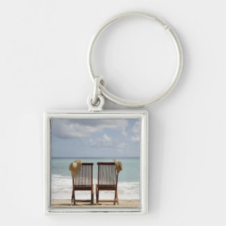 Two Chairs On Beach | Barbados Key Ring