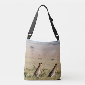Two cheetahs on the look out tote bag