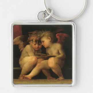 Two Cherubs Reading by Rosso Fiorentino Key Ring