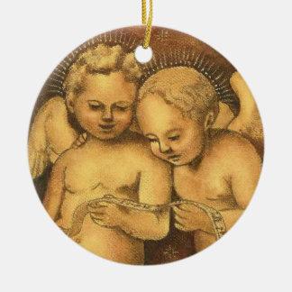 """Two Cherubs Singing"" Christmas Ornament-Angels Christmas Ornament"