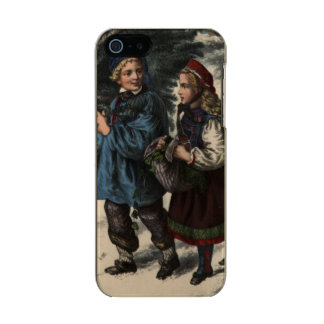 Two children collecting a Christmas tree and ivy Incipio Feather® Shine iPhone 5 Case