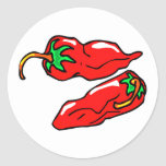 two chilli peppers graphic loose sticker