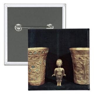 Two Chimu vases with mythological figures 15 Cm Square Badge