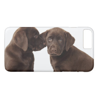 Two chocolate Labrador Retriever Puppies iPhone 8 Plus/7 Plus Case