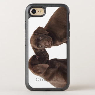 Two chocolate Labrador Retriever Puppies OtterBox Symmetry iPhone 7 Case