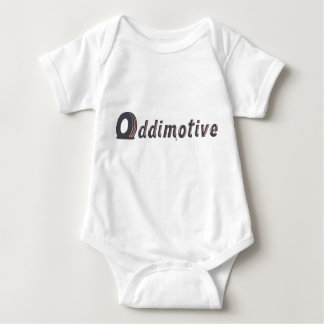 Two Color front logo only Baby Bodysuit