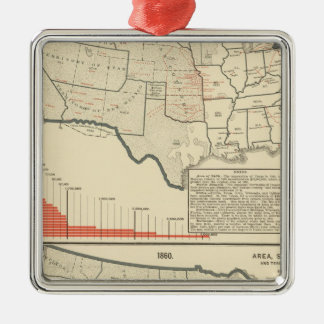 Two color lithographed maps of United States Christmas Ornament