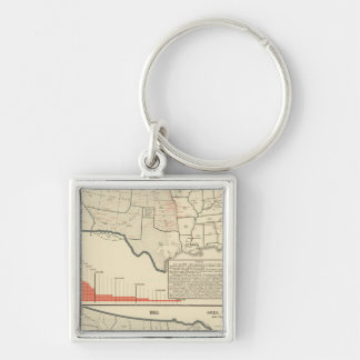 Two color lithographed maps of United States Key Ring