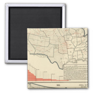 Two color lithographed maps of United States Magnet