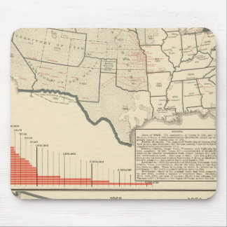 Two color lithographed maps of United States Mouse Mat