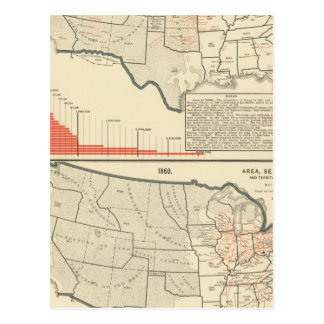 Two color lithographed maps of United States Postcard