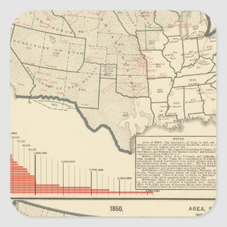 Two color lithographed maps of United States Square Sticker