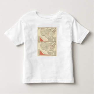 Two color lithographed maps of United States Toddler T-Shirt