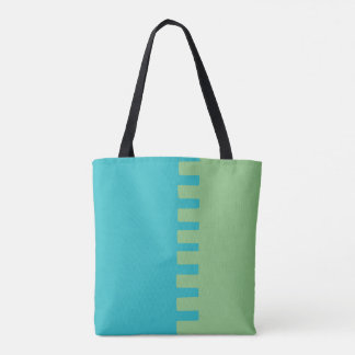 Two-Color Stylish Pattern Tote Bag