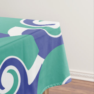 Two color swirls tablecloth