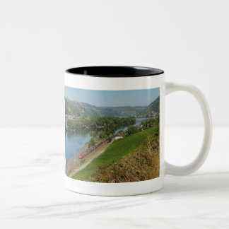 Two-colored cup black central Rhine Valley with Two-Tone Mug