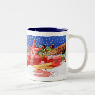 Two-colored cup blue glad Christmas