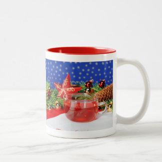 Two-colored cup red Christmas