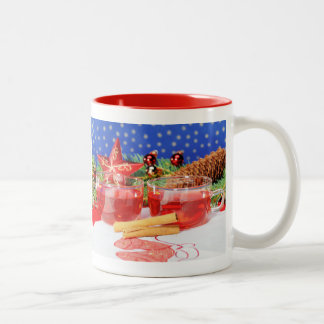 Two-colored cup red glad Christmas